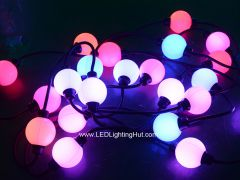 50mm WS2801 Digital RGB LED 3D Ball Light, DC12V, Strand of 20