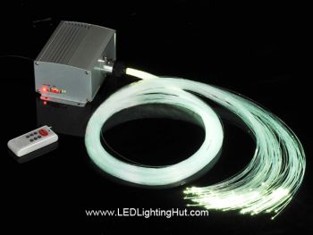 10 Watt CREE Color Wheel Fiber Optic Lighting Source w/ Remote