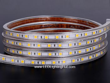 110V 120V Driverless LED Light Strip, IP67 Waterproof, 60LEDs/M, 50 meter reel