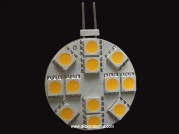 12 SMD 5050 Side-pin G4 LED Lamp, 12V DC, 2.4W