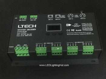12CH LED DMX/RDM LED DMX Decoder, 12-24VDC, 4A/CH, XLR-5, RJ45 Socket