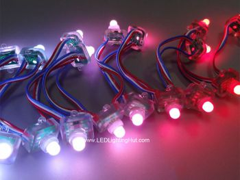 12mm Diffused Flat Digital RGB LED Pixels, WS2811/UCS1903, DC 5V, Strand of 50