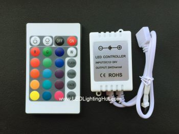 12V 24-Key Infrared RGB LED Controller