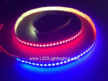 144/m WS2813 Digital Addressable RGB LED Strip, Dual Data Signals, 1m,  5VDC