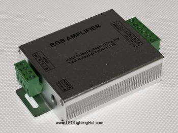 LED RGB Signal Amplifier (Data Repeater) for RGB Strips, 12V-24V DC Input