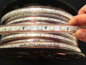 164 ft 120V Driverless RGB Flat LED Strip Light