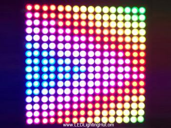 16x16 NeoPixel WS2812B Digital Flexible LED Panel (Matrix), DC5V Input