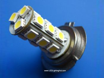 18 5050SMD H7 LED Foglight Bulb, 12 VDC (2 pack)