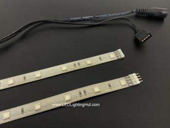 1 Ft Ultra-flexible 12 SMD 5050 LED Strips, IP65 Waterpoof, 12V DC, 0.24Amp