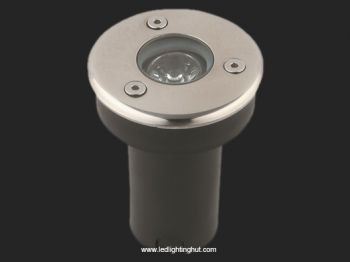 1W LED Underground Light, 12V DC Input, R/G/B/W Color Optional