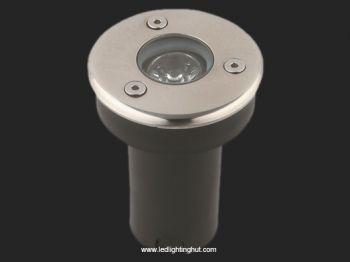 1W LED Underground Light, 12V DC Input, R/G/B/W Color Optional