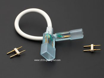 2-Conductor Interconnector for 5050 SMD Driverless LED Rope Light Strip