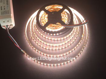 24V 4 in 1 RGBW LED Strip, 96 LED/m, 5m/reel, Sold by reel