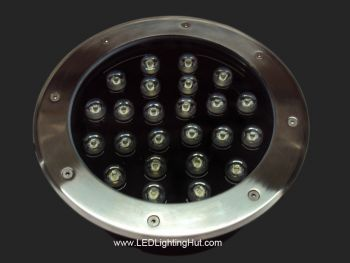24W High Power LED Inground Lighting, IP65 Waterproof, RGB/R/G/B/W Optional