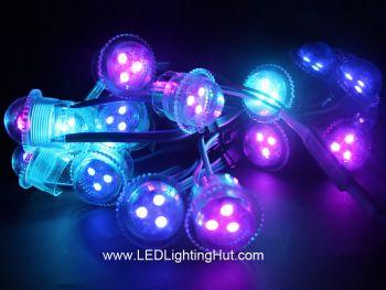 26mm Digital RGB Pixel Dome Lights, UCS1903/WS2811 Signal, DC12V, Pack of 20