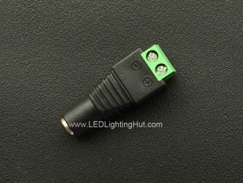 5.5/2.1mm DC Power Coax Barrel Jack (Female) to 2-Pin Terminal Block Adapter