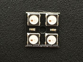 2x2 WS2812B Smart RGB LED Matrix Board, 15 x 15 mm