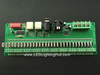 30 Channel Easy DMX512 LED RGB Controller, 1A/CH, DC 7V- 24V