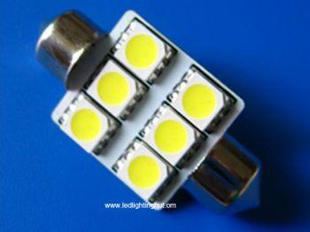 31 mm 6 SMD 5050 Ultra Bright  LED Festoon Light, 1-1/4