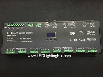 32CH LT-932-OLED DMX/RDM LED DMX Decoder, 12-24VDC, 3A/CH, XLR-3, XLR-5, RJ45 Socket