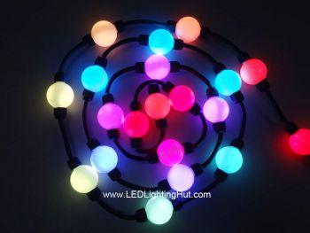 35mm Digital RGB 3D Ball Light, UCS1903, DC24V, Strand of 20