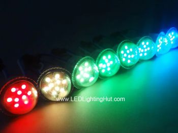 35mm Digital RGB Pixel Dome lights, UCS1903 9 LEDs, DC 12V, Strand of 20