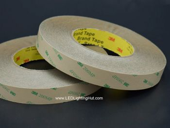 3M Double Sided Tape for LED Strips, 55m reel,  5/8/10/12mm/15mm Wide Available