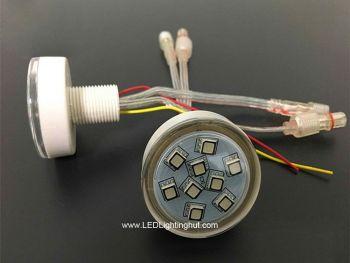 45mm RGB Digital RGB LED Amusement Puck Light, UCS1903 IC 9 LEDs, DC 24V, Pack of 20