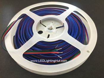 4 Conductor 20AWG Wire RGB Extension Cable for RGB LED Strip, Sold by Meter