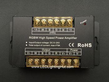 4CH RGBW Signal Amplifier, 8A/CH, 5V-24V DC