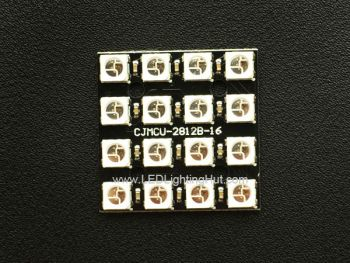 4x4 WS2812B Digital RGB LED Matrix Board, 30 x 30 mm