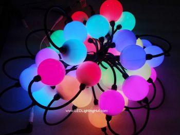 50mm DMX512 RGB LED 3D Ball Light, DC24V, Strand of 20