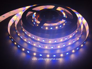 5 Channel RGB + Dual Chip White Adjustable 5050 LED Strip, 72 LED/m, 24V DC, 5m