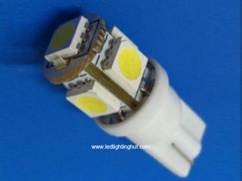 5 SMD5050 LED T10 Wedge LED Light Bulb (2 pack)
