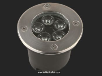 5 Watt LED Underground Light, 30 Degree Beam Angle, R/G/B/W Color Optional