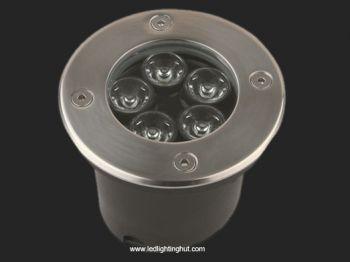 5 Watt LED Underground Light, 30 Degree Beam Angle, R/G/B/W Color Optional