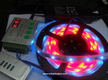 5m TM1809 Digital Intelligent LED Strip + 12V/6A power Adaptor + TH2010-X Remote Controller