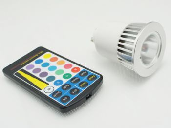5W GU10 Color Changing RGB LED Bulb with Remoter Controller