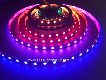 60 LED/m WS2813 Digital Addressable RGB LED Strip, Dual Data Signals, 4m/roll, 5VDC