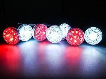 60mm Programmable RGB LED Amusement Puck Light, DC 24V, Pack of 20