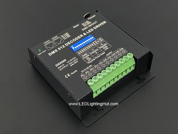 6 Channel DMX Decoder,  10A/Ch, RJ45 /XLR, 8Bit/16Bit Switchable