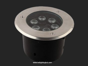 6 Watt LED Inground Light, IP65 Waterproof, RGB/R/G/B/W Optional