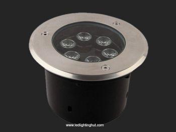 6 Watt LED Inground Light, IP65 Waterproof, RGB/R/G/B/W Optional