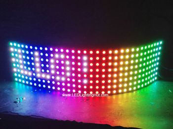 8x32 NeoPixel WS2812B Digital Intelligent Flexible LED Matrix (Panel) , DC5V Input