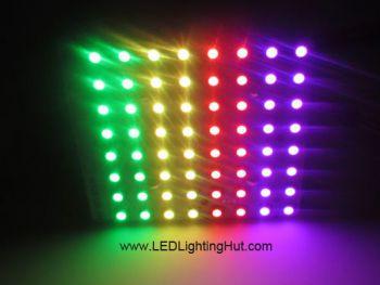 8x8 WS2812B Rigid Digital RGB LED NeoPixel Matrix, DC5V input