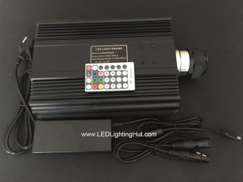 90 Watt DMX 512 RGB LED Fiber Optic Light Source  w/ remote