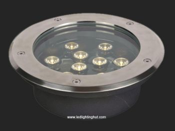 9 Watt In Ground LED Lighting, IP65 Waterproof, RGB/R/G/B/W Optional