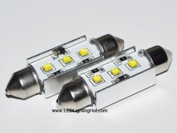 9W CREE LED Festoon Dome Light Bulb, 31mm/36mm/39mm/42mm Available (2 Pack)
