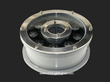 9W LED Submersible Fountain Light Ring, W/R/G/B/RGB Optional