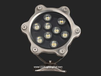 9W LED Underwater Pool Light, W/R/G/B/RGB Optional